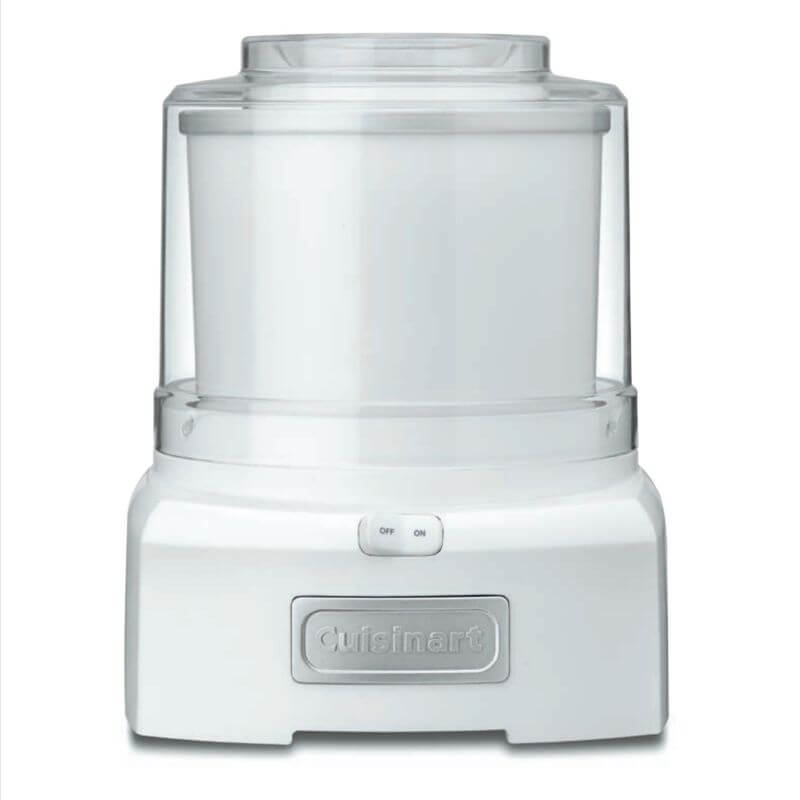 White Cuisinart ICE-21 Frozen Yogurt-Ice Cream & Sorbet Maker