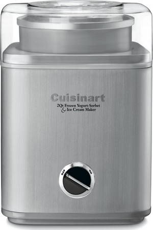 White Cuisinart ICE-30BC Ice Cream Maker
